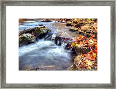 Art For Crohn's Hdr Fall Creek Framed Print by Tim Buisman
