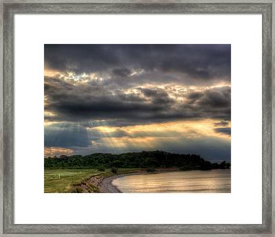 Art For Crohn's Lake Ontario Sun Beams Framed Print by Tim Buisman