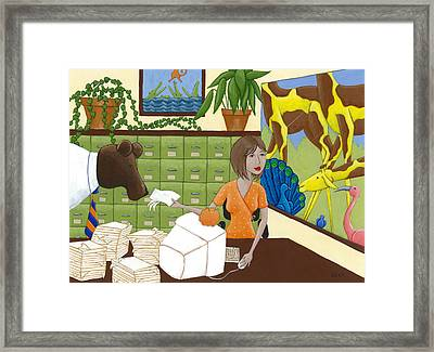 Art For The Office Framed Print by Christy Beckwith