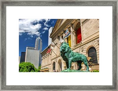 Art Institute In Chicago Framed Print by Christopher Arndt