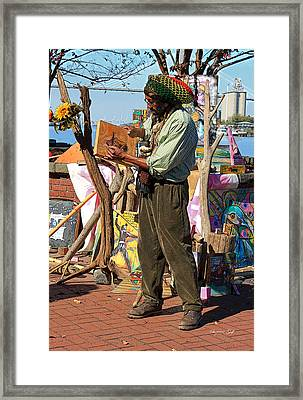 Art Is A Thing Framed Print by Suzanne Gaff