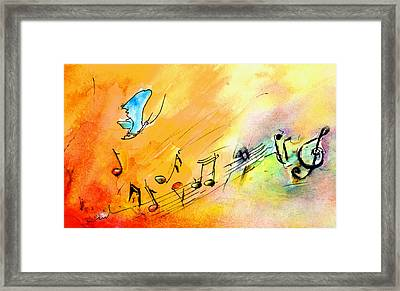 Art Is Like A Partition Framed Print by Miki De Goodaboom