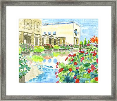 Art Museum In Autumn Framed Print by Beverly Claire Kaiya
