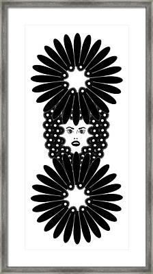 Art Nouveau Design 453 Framed Print by Frank Tschakert