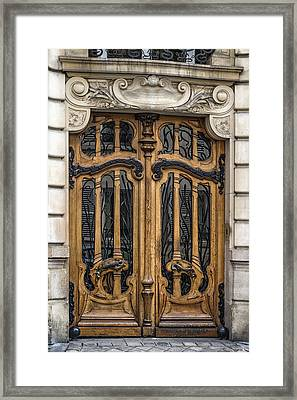 Art Nouveau Door Framed Print by Georgia Fowler
