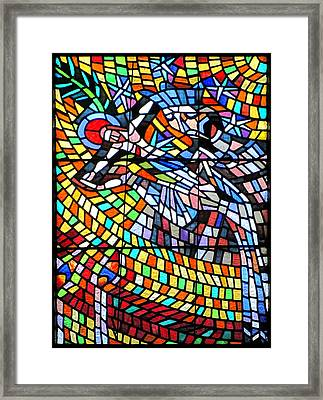 Art Nouveau Stained Glass Windows Ss Vitus Cathedral Prague Framed Print by Christine Till