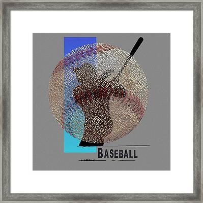 Art Of Baseball Framed Print by Jim Baldwin