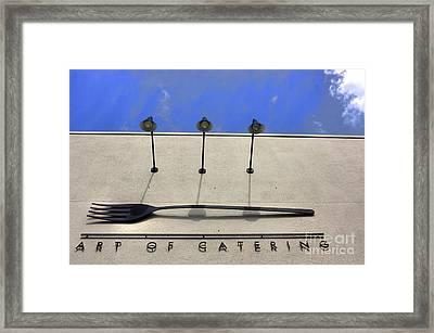 Art Of Catering Framed Print by David Bearden