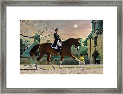 Art Of Dressage Framed Print by Fran J Scott