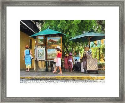 Art Show In San Juan Framed Print by Susan Savad