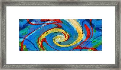 Art Swirl Framed Print by Dan Sproul