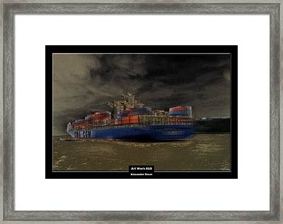 Art Work 068 Container Ship Framed Print by Alexander Drum