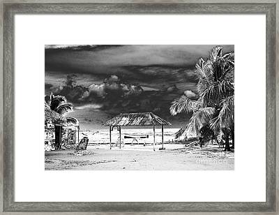 Artful Beach Infrared Framed Print by Heather Kirk