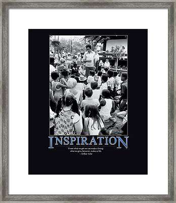 Arthur Ashe Inspiration  Framed Print by Retro Images Archive