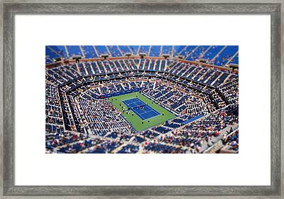 Arthur Ashe Stadium From High Angle Framed Print by Mason Resnick