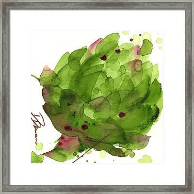 Artichoke II Framed Print by Dawn Derman
