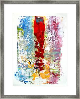 Artifact Monoprint Sold Framed Print by Charlie Spear