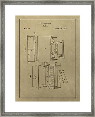 Artificial Bee Hive Patent Framed Print by Dan Sproul