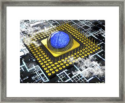 Artificial Intelligence, Conceptual Framed Print by Science Photo Library