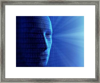 Artificial Intelligence Framed Print by Johan Swanepoel
