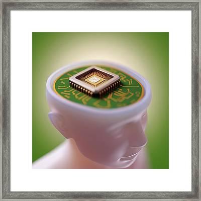 Artificial Intelligence Framed Print by Ktsdesign