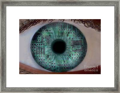 Artificial Intelligence Framed Print by Mike Agliolo