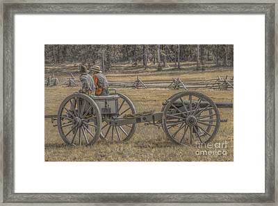 Artillery To The Front Framed Print by Randy Steele
