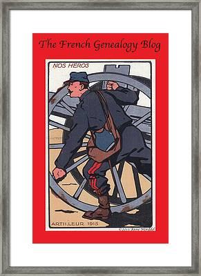 Artilleur 1915 With Fgb Border Framed Print by A Morddel