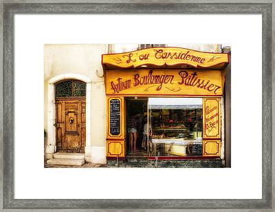 Artisan Boulanger In Cassis Framed Print by Georgia Fowler
