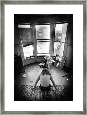 Artist As La Penseur Framed Print by Barb Greene mann