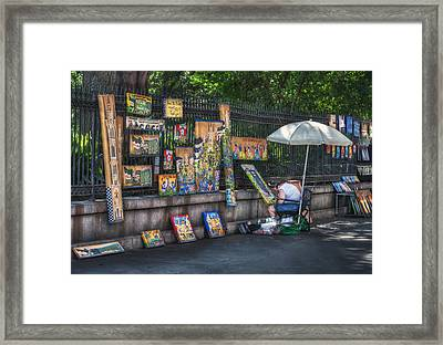 Artist At Work Framed Print by Brenda Bryant