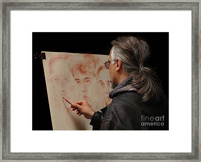 Artist At Work Florence Italy Framed Print by Bob Christopher