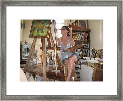 Artist In Her Studio  Framed Print by Becky Van Pelt