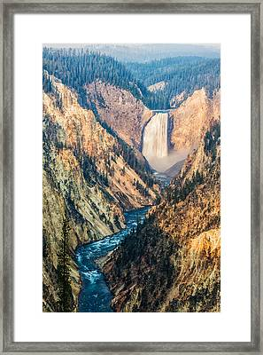 Artist Point In Yellowstone Framed Print by Andres Leon