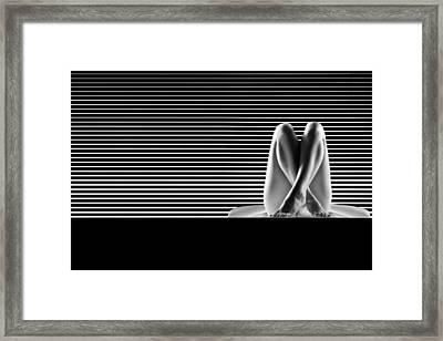 Artistic B W Nude Framed Print by Dan Comaniciu