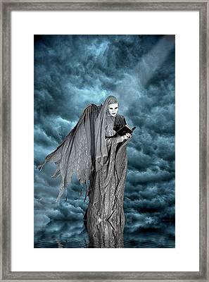 Artistic Creation Of Dark Angel Framed Print by Jaynes Gallery
