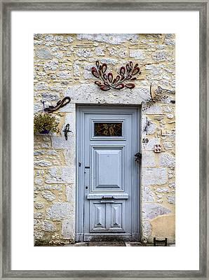 Artistic Door Framed Print by Georgia Fowler