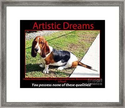 Artistic Dreams Framed Print by John Rizzuto