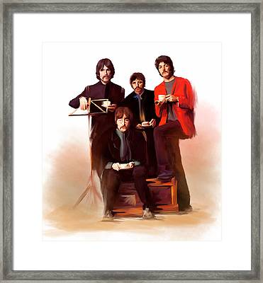 The Beatles Classic Fabs  Framed Print by Iconic Images Art Gallery David Pucciarelli