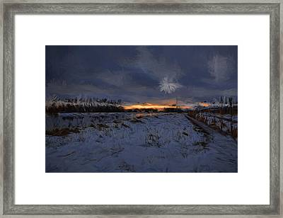 Artistic Painterly 1  Early Morning January 2015 Framed Print by Leif Sohlman