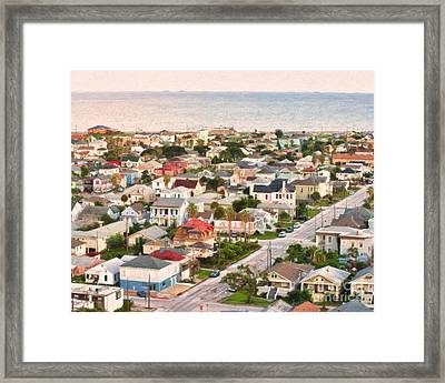Artistic View To The Gulf Of Mexico Framed Print by Barbara Rabek