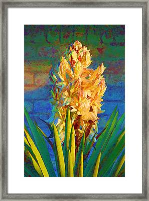 Artistic Yellow Yucca Framed Print by Linda Phelps