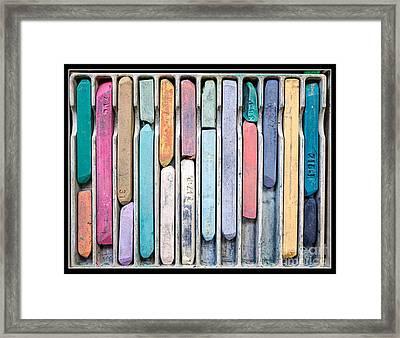 Artists Chalks Framed Print by Edward Fielding