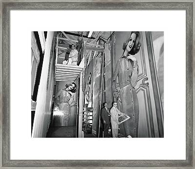 Artists Creating Billboards Framed Print by Underwood Archives
