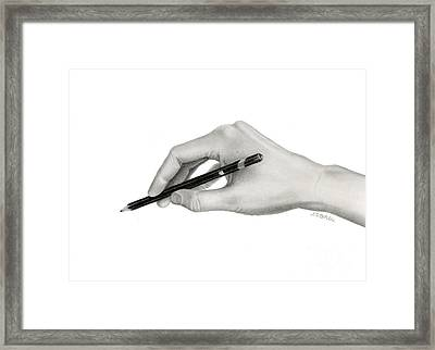 Artist's Hand Framed Print by Sarah Batalka