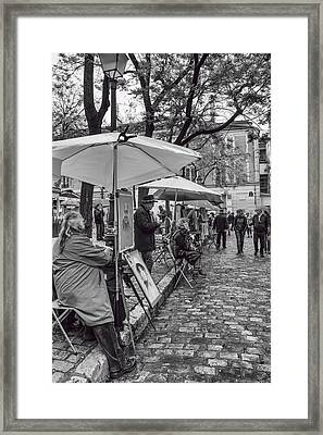Artists In Montmartre Framed Print by Georgia Fowler