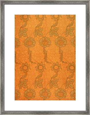 Arts And Crafts Design Framed Print by William Morris