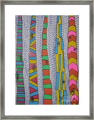 Artsy Birch Framed Print by Marcia Weller-Wenbert