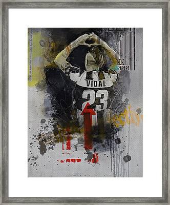 Arturo Vidal - B Framed Print by Corporate Art Task Force