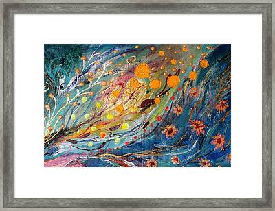 Artwork Fragment 02 Framed Print by Elena Kotliarker